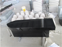 Shanxi Jet Black Granite Stone Custom Bench