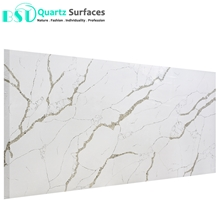 Polished White Quartz Stone Slab with Grey Veins