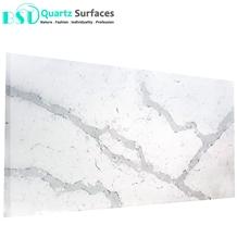 White Calacatta Quartz Stone for Kitchen