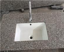 China G664 Pink Granite Bathroom Countertop