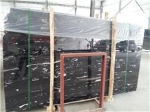 China Silver Dragon Black Marble Slabs, Wall Tiles