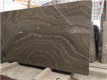 Wooden Grain Vein Grey Brown Chinese Marble Slab