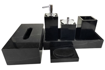 Nero Margiua 5-Piece Bathroom Accessories Set