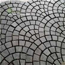 Driveway Granite Cobblestone Paver on Mesh