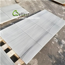 Honed Surface Grey Wood Vein Sandstone Slab