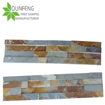 China Rusty Culture Stone Slate Wall Cladding