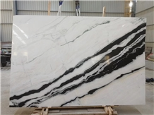 Panda White Marble Slab,White Marble Black Veins