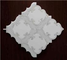 Bianco Carrara White Shell White Water-Jet Marble