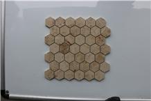 Germany Jura Beige Hexagon Marble Mosaics