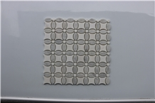 Greece Dolit White Marble Water Jet Marble Mosaics