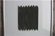 Indonesia Basalto Black Bamboo Marble Mosaics
