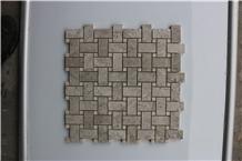 Italy Basketweave Bardiglio Nuvolato Marble Mosaic