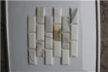 Italy Calacatta Gold Brick Marble Mosaics Tiles