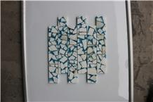 Italy Calacatta Gold Brick Resin Marble Mosaic
