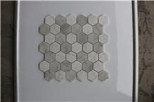 Italy Carrara White Honed Hexagon Marble Mosaics