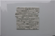Italy Carrara White Polished Brick Marble Mosaics