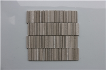 Light Wooden Hammered Marble Mosaic,Tiles