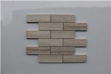 Viet Nam Light Wooden Brick Marble Mosaic,Tiles