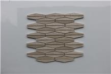 Viet Nam Light Wooden Marble Mosaic,Tiles