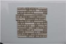 Viet Nam Light Wooden Vein Marble Mosaics