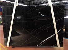 China Nero Marquina Big Slabs Tiles Bookmatched