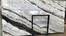 Danube Blue Marble Quarry Slabs Tiles Bookmatched