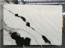 Panda White Marble Big Slabs and Tiles Bookmatched