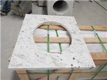White Granite Countertop Bathroom Top