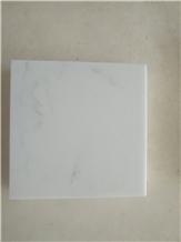 Carrara White Marble Look Engineered Quartz Sy10