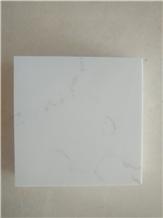 Carrara White Marble Look Engineered Quartz Sy13