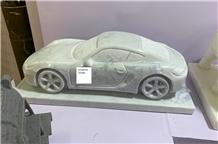 Eastern White Car Designed Sculpture,Exterior