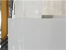 Pure White Marble Look Engineered Quartz Am01
