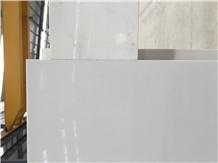 Pure White Marble Look Engineered Quartz Am01