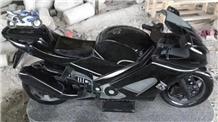 Shanxi Black Granite Motorbicycle Carving