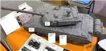 Syc02 India Blue Granite Tank Carving