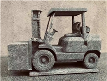Syc05 India Blue Granite Fork Truck Carving