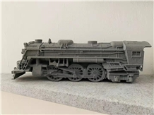Syc07 Lava Stone Train Carving