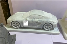 Syc07 Pure White Marble Car Carving