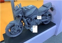 Syc08 India Blue Granite Motorbicycle Carving