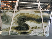 China Dreaming Green Marble Slabs Tiles
