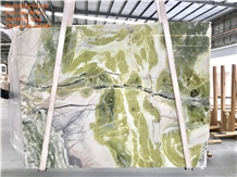 Dreaming Green Marble Slabs Fantasy Emerald Marble