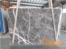 Skyfall Grey Marble Slabs Tiles Bookmatch Project