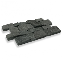 Indonesia Black Tumbled Lava Stone Retaining Walls