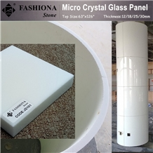 China White Artificial Marble-Micro Crystal Glass Stone Colum