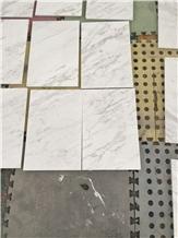 Volakas Jazz White Polish Cut to Size Marble Tile