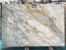 Best Price Calacatta Gold Marble Slabs Walling
