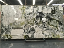 Best Price White Beauty Luxury Green Marble Slab