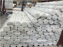 High Quality Calacatta White Marble Stone Column