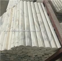 Italy Calacatta White Marble Stone Column