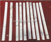 Made in China Calacatta White Marble Stone Column